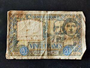 France billet 20 francs 8=5=1941 type Science