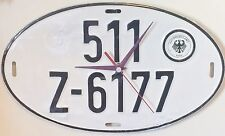 Vintage West German Import License Plate Clock - Conclocktions
