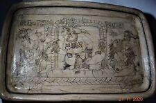 "New ListingSale! Pre Columbian Mayan Platter, glyphs 14"" Prov"