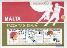 Malta Block9 (kompl.Ausg.) postfrisch 1986 Fussball-WM