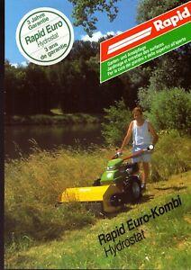 BADEMA CH Rapid Euro-Kombi Eingrasmäher Einachser 09/95 Agrar-Prospekt 4 S #613