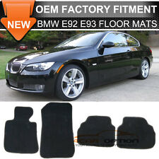 Fit 07-13 BMW E92 3-Series Floor Mats Carpet Front & Rear Nylon Black 4PC