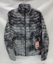 North Face Mens Thermoball Full Zip Jacket C762 Asphalt Grey Cirrus Print Large