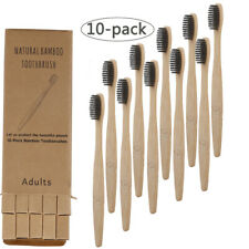 Natural Bamboo Wooden Charcoal Toothbrush Soft Bristles Eco Friendly Oral  Brush
