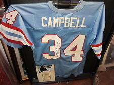 Earl Campbell signed Houston Oilers Football Jersey Radtke Sports Authenticity