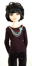 """Boneka Black embroidered T-Shirt for 43cm / 17"""" BJD/MSD dolls"""