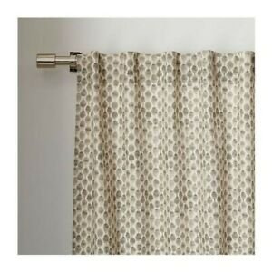 West Elm Stamped Dot Curtains in Platinum, Set of 2 - 48x82 Inches
