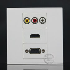 Wall Face Plate 3RCA AV + HDMI + VGA Coax Coaxial Assorted Panel Faceplate