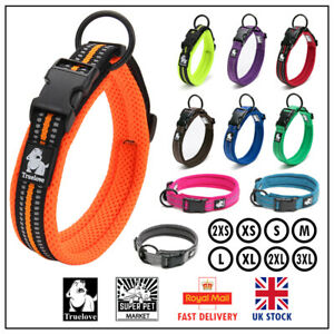 Dog Collar Truelove Air Mesh Soft Padded Adjustable Reflective XS S M L XL 2XL