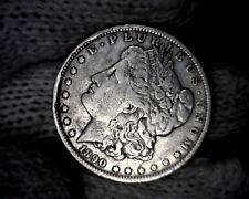 Error 1890-o Rim Cuds Morgan Silver Dollar