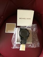 Michael Kors Men's MK8157 'Runway' Chronograph Black Stainless steel Watch