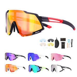 Polarized Cycling Sunglasses Racing Eyewear MTB BMX Road Sports Glasses 5 Lenses