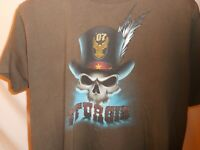 2007 Harley Davidson Sturgis Motorcycle Rally T Shirt Skull Top Hat Size Large