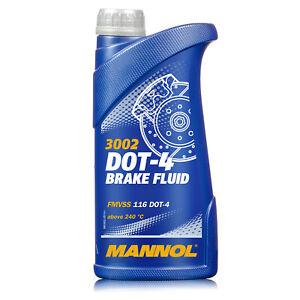 Bremsflüssigkeit MANNOL DOT 4 SAE J 1703 1 Liter Brems Flüssigkeit Universal