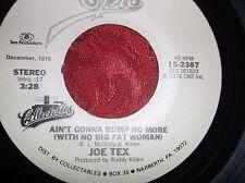 "Joe Tex ""Ain't Gonna Bump No More"" new 45 r.p.m."