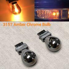 T25 3157 4157 Amber Silver Chrome Bulb  Rear Signal Light for Cadillac