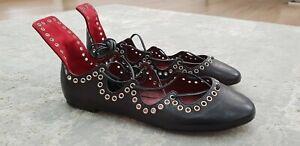 ISABEL MARANT Leo ballerinas Flats Shoes Lace Up Size FR 35 / UK 2