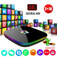 Q plus 2+16G Android 9.0 Pie Smart TV BOX 6K Quad Core WIFI USB 3.0 MINI PC HDMI