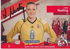 Lena Nuding  FC Köln Frauen Fußball Autogrammkarte signiert 376355