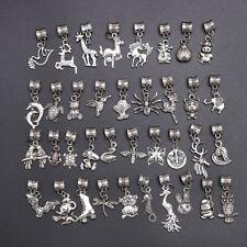 40pcs Lots Wholesale Tibetan Silver Charm Fit European Chain Bracelet Hot
