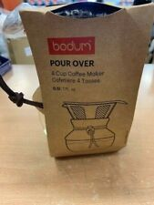 Bodum Pour Over Coffee Maker with Permanent Filter 0.5 L 17oz Reusable Drinkware