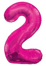 Unique Party Assorted Pink Foil Number Numerical Balloon Birthday Decoration 55732 2