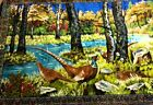 Vintage PHEASANT WALL TAPESTRY 4ft X 6ft