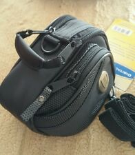 Universal camera case 3 sections nwt has shoulder strap water resistant black