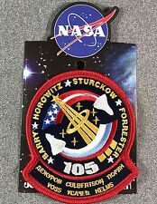 NASA STS-105 MISSION PATCH Official Authentic SPACE 4.7in Made in USA si