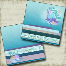 Let the Currents Guide Npm - 2 Premade Scrapbook Pages - Ez Layout 4853
