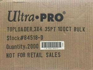 2000 Ultra Pro 35pt Point 3x4 Toploader Top Loader Case | 1 FACTORY SEALED CASE