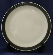 """Poole Pottery Charcoal & White 'Compact Range' 8.5"""" Supper / Dessert Plate x 3"""