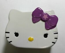 Hello Kitty Ceramic Piggy Bank Head with Purple Bow Coin Bank
