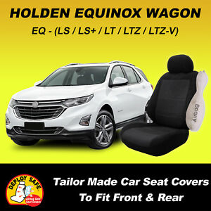 Car Seat Covers HOLDEN EQUINOX Wagon 09/2017 To Current - Black - Air Bag Safe!