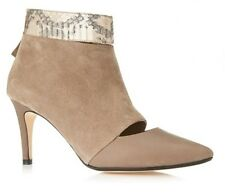 Zizi by Florsheim Perse Taupe Kid Suede & Snake Look Zip Bootie Size: EUR 41