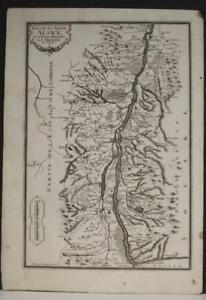 ALSACE FRANCE 1705 NICOLAS DE FER UNUSUAL ANTIQUE ORIGINAL COPPER ENGRAVED MAP
