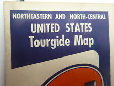 1955 United States Northeastern North-Central  road map Gulf oil  gas