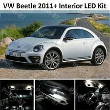 DELUXE VW BEETLE 2011+ LED INTERIOR LIGHT KIT SET BULBS XENON WHITE UPGRADE LEDS