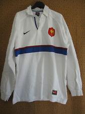 Maillot Rugby Nike Quinze France exterieur 1999 Manche Longue vintage Coton - L