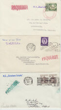1964-68 lot of 4 x Newcastle Paquebot covers inc Leda / Christiane Schulte