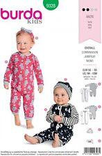 Burda Kids Easy SEWING PATTERN 9328 Babies Romper,Hat & Headband 1m-18m