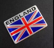 Etiqueta engomada de Metal Aluminio Inglaterra placa de coche placa Adhesivo Bandera Reino Unido stock Británico de Londres