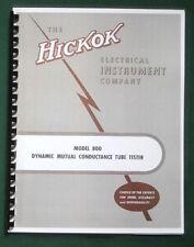 Hickok 800 Instruction Manual & Tube Charts