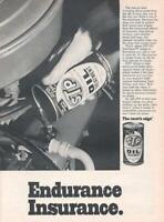 1971 STP Oil Treatment PRINT AD The racers Edge  Vintage Can Decor