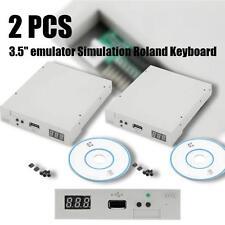 "2PCS 3.5"" 144MB Upgrade Floppy Drive to USB Flash Disk Drive Emulator+ CD BH"