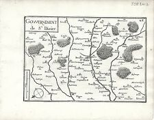 Antique maps, gouvernement de st. dizier