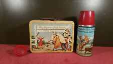 Vintage 1950's Roy Rogers And Dale Evans Lunchbox With Thermo,Tv Western Shows