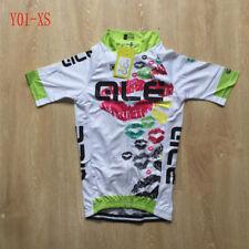 Womens cycling jersey short sleeve Team bike shirt Summer bicycle tops Size XS