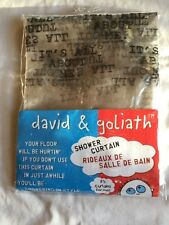 """David & Goliath """"It'S All About Me."""" Clear Vinyl Shower Curtain - Brand New!"""