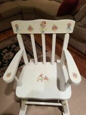Girls Youth Toddler Wood Decorative Doll Rocking Chair Custom Antique White